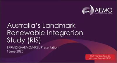 Australia's Landmark Renewable Integration Study
