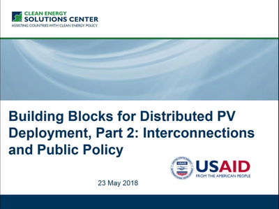 Building Blocks for Distributed PV Deployment, Part 2: Interconnection and Public Policy