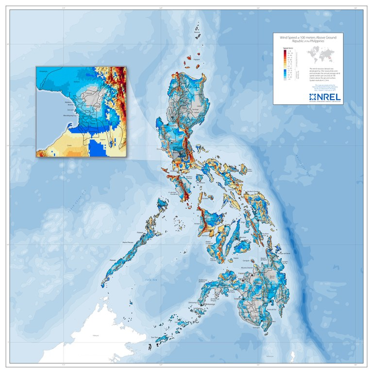 For wind resource maps and data section
